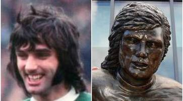 in pictures: mixed reaction to george best statue - but where does it rank in football's great sculptures