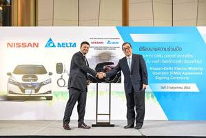 nissan and delta pioneer thailand's first partnership to enable ev-home charging