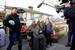 diy sos: viewers rally behind torquay family as nick knowles helps transform home