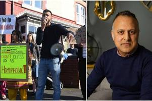 city gay muslim activist brands protesters targeting a city primary school over lgbt lessons 'disgusting'