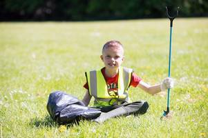 this 'incredible' 8 year old is on a mission to clean up litter from his town