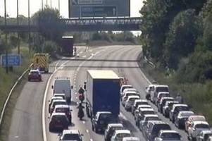 live a2 traffic updates as emergency services stop traffic near cobham after crash
