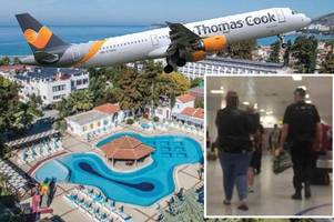 family escorted off thomas cook flight by armed police after 'complaints of child abuse'