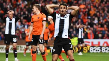 dundee united and st mirren draw first leg of scottish premiership play-off final