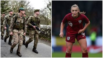 'a lot of the girls didn't have much sleep' - england train for world cup with marines