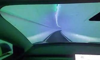 Tesla Model 3 Drag Races Tesla Model 3 in Boring Tunnel