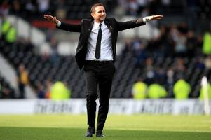 steve nicholson: win or lose at wembley, frank lampard has delivered at derby county