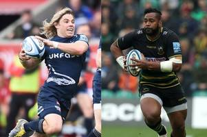 bristol live's gallagher premiership xv of 2018/19: 3 saracens, 3 sale sharks, 1 exeter chief, 1 northampton saint, 1 worcester warriors and 6 bristol bears