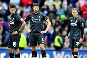 steven gerrard's one-word summary of stoke city 6, liverpool 1
