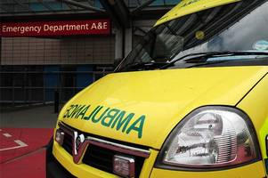 cyclist taken to hospital by ambulance after collision with car