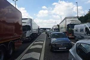 m11 stansted airport traffic: highways england warning drivers to re-route after serious accident shuts road