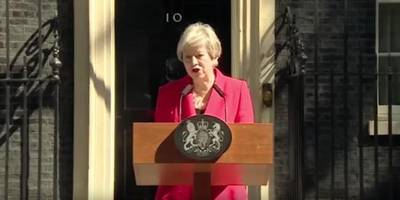 theresa may resigns, musicians celebrate