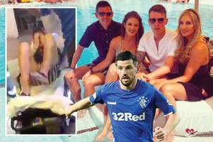 rangers star graham dorrans back in glasgow after ibiza holiday attack left him needing stitches