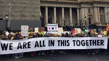 school students walk out in global climate strike