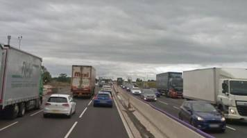 'serious' accident shuts m6 motorway in staffordshire