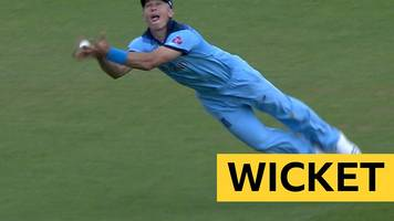 england v australia: tom curran's magnificent diving catch in cricket world cup warm-up