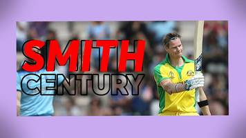England v Australia: Smith hits century in World Cup warm-up