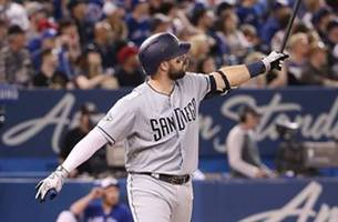 padres hit franchise record 7 home runs in 19-4 rout of blue jays