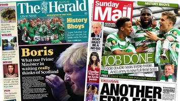 scottish papers: boris on scotland and celtic's 'history bhoys'