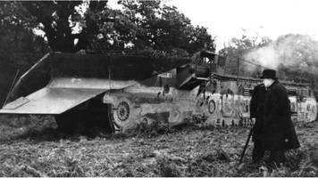 nellie the trench-digging tank revived for world war two exhibit