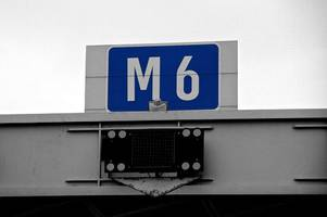 two lanes of the m6 motorway closed due to accident