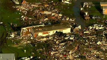 oklahoma tornado: aerial footage shows the aftermath