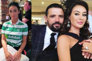 ex-rangers wag stephanie heaney wears celtic top in tribute for tragic sister