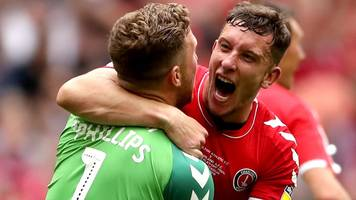 charlton promoted to championship with last-gasp goal