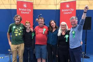 greens celebrate european elections victory in bristol
