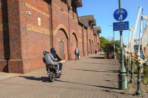maniac moped riders tear along grimsby footpath risking lives - just days after teen couple seriously injured