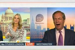 nigel farage loses his temper over brexit numbers on good morning britain