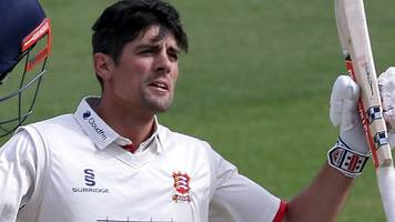ex-england captain cook scores first century of season before essex collapse