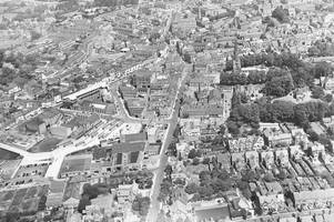 bird's eye views of hinckley taken at end of 1960s decade of change