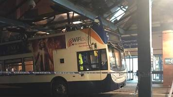 double-decker bus crashed into sheffield hospital roof