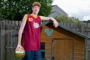 scottish teenage basketball giant ready to use 7ft 4in height to score nba slam dunk