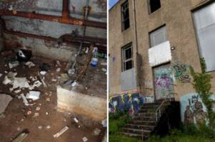 the sad state of one of swansea's most prominent buildings that's now a drugs den