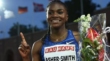 asher-smith runs fastest 200m of year to beat olympic and world champions
