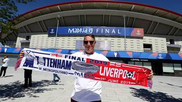 champions league: liverpool and spurs fans travel to madrid