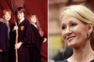 j.k rowling has penned four new harry potter books that will be available next month