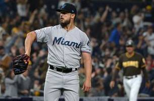marlins doomed by home runs, fall to padres 5-2
