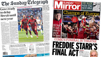 newspaper headlines: liverpool are champions and gove on brexit delay