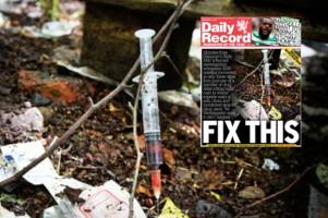 scotland's drug crisis: 750 clean-up crew call outs for heroin needles in just one year
