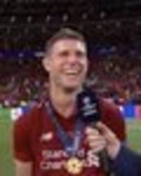 james milner gives hilarious response when asked about liverpool celebrations