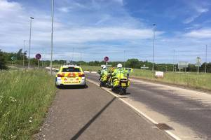 man arrested after running away from police along a120 near stansted airport