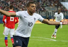 mbappe substituted after ankle knock in france friendly