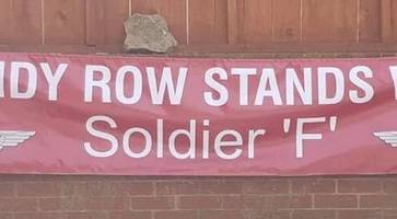 shankill loyalists refuse to erect soldier f banners