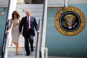 live: donald trump to land at stansted airport on uk state visit