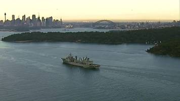 chinese warships arrive in sydney harbour