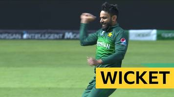 cricket world cup: england's eoin morgan is bowled by mohammad hafeez