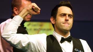 i wouldn't choose to play snooker now - o'sullivan